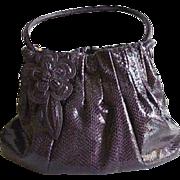 SALE Aubergene Brighton Large Sachel Faux Snake Skin Handbag