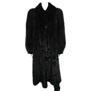 SALE Couture McFadden Full Length Brown-Black Mink Coat