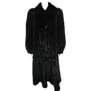 SALE Designer Mary McFadden Full Length Black Brown Mink Coat