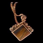 REDUCED Estate 14kt Gold Victorian Reversible  Gemstone Pendant