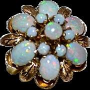 REDUCED Retro 18kt Gold Fiery Opal Princess Harem Ring