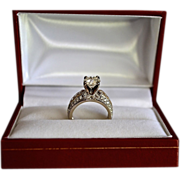 REDUCED Estate 14K Old European Cut 1.65 Carat Diamond Wedding Ring