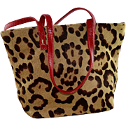 REDUCED Small Valentino Leopard Calf Skin Evening Tote