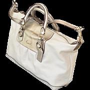 SALE Silver White Coach Ashley Leather Satchel Style Handbag
