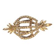 "REDUCED Vintage Weiss ""Old Hollywood"" Marquis Swarovski Crystal Brooch"