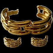 SALE Classic Givenchy Wide Link Bracelet & Earrings