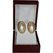 REDUCED Givenchy  14K Gold Plate Faux Pearl Dome Earrings