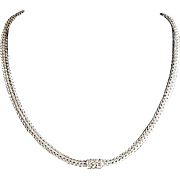 SALE Classic John Hardy Sterling Silver 18K Gold Wheat Chain with Diamond Clasp