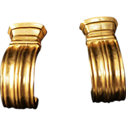 SALE Karl Lagerfeld Classical Doric Gold Plate Earrings