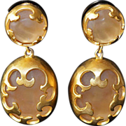 SALE Karl Lagerfeld Runway 18kt GP Jumbo Drop Earrings