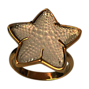 SALE LALIQUE Beguiling Oceania Star 18k Gold Plate Ring