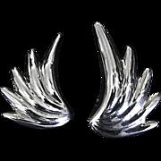 REDUCED Flirtatious Diva Sterling Silver Wing Earrings