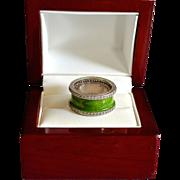 SALE High Fashion Sterling Crystal Enamel Ring