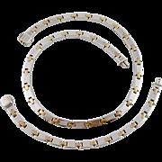 REDUCED Rare Set Tiffany & Co 18K Gold & Sterling H-Link Necklace Bracelet