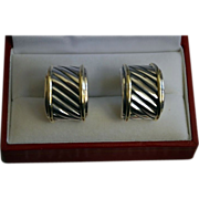 REDUCED Iconic Classic Yurman Sterling Gold Cable Earrings