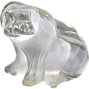 REDUCED Dramatic Lalique Crystal Polar Bear Sculpture