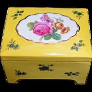REDUCED Vintage Floral Painted Porcelain Trinket Box
