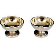SALE Vintage Tiffany & Co Sterling Open Footed Salt Cellars  (Pair)