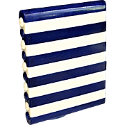 SALE Gorgeous Art Deco Blue & Creme Celluloid Cigarette Case