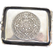 REDUCED Vintage Sterling Taxco Mexico Cigarette Case