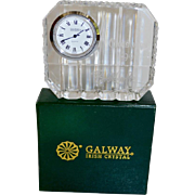 REDUCED Vintage Galway Irish Lead Crystal Table Clock