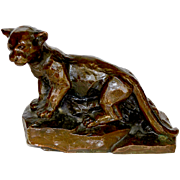 "REDUCED Collectible  BANTHRICO INC Metalware ""Cat"" Coin Bank Circa 1950's"