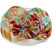 REDUCED Murano Fratelli Toso Opalescent Geo Shaped Art Bowl