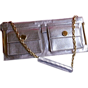 SALE DESIGNER C. Lacroix Leather Baguette Style Handbag