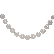 "REDUCED GLOWING Long 31.5"" Strand AAA Quality 8.0-7.5mm Pearl strand with ..."