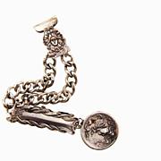 SALE Fabulous Art Nouveau chatelaine with medallion