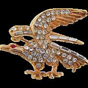 Striking vintage rhinestone Eagle brooch