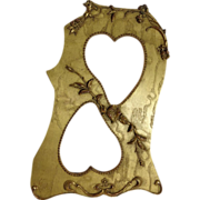 Art Nouveau Gilt Wood Frame with Two Heart Openings