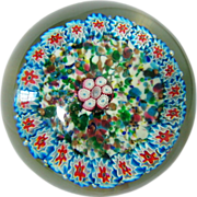 SOLD Enormous 60's Fratelli Toso Magnum Millefiori Paperweight