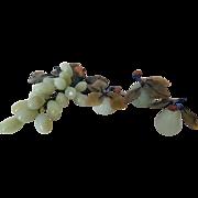 FOUR Pieces Vintage Stone Fruit – Grapes, 2 Apples, Pear