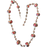 Art Deco Venetian Jeweled Wedding Cake Bead Necklace