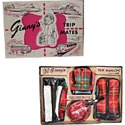 "Vintage 1950s Vogue Ginny Doll ""Ginny's Trip Mates"" Luggage Set in Orig Box!"