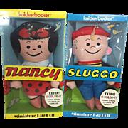 1973 Vintage Knickerbocker Nancy Sluggo Cloth Comic Dolls MIB!