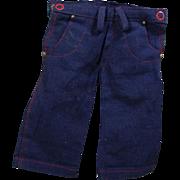 Vintage 1940s Original TERRI LEE Doll Blue Jeans!