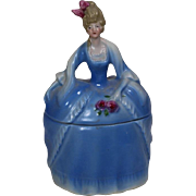 SALE PENDING Antique c1920s German Madame Pompadour Dresser Doll Powder Jar!