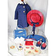 """1962 Charmin Chatty Doll Outfit American Airlines Stewardess """"Let's Talk 'N Travel in For"""
