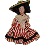 """3.5"""" Bisque UNIS France Dollhouse Doll from Nice!"""