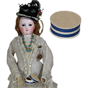 Antique Little Round French Box for French Fashion Doll Accessories!