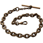 Heavy Large Link Gold Fill GF Watch Chain Late 1800s