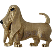 1960s Boucher Basset Hound Dog Pin Figure