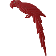 Big Red Parrot PIn by Buch & Deichmann Denmark