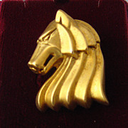 Wolf Pin by Rick Cameron Vermeil Deco-Inspired Design