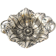 "1902 Reed & Barton ""Clematis"" Sterling Nut Dish"