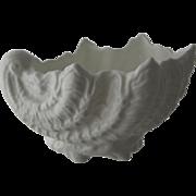 Vintage Coalport White Bone China Shell Shaped Dish
