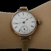 1899 Elgin Early WristWatch Pocket Watch w/Strap Gold Fill