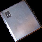 Heavy English Deco Sterling Cigarette Case 1920
